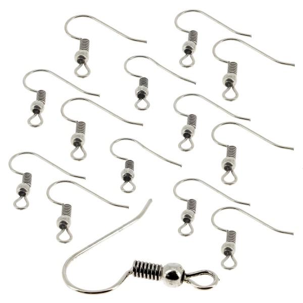 Lot de crochets d'oreille - Argenté - 50 pcs - Photo n°1