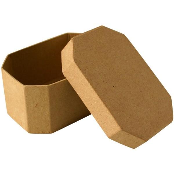 Boîte en carton octogonale 10 cm - Photo n°1