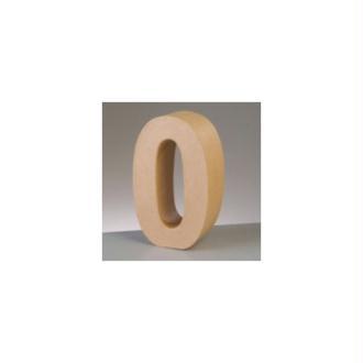 Chiffre en Papier mâché, haut. 17,5 cm, Chiffre 3D carton de 0 à 9 au choix