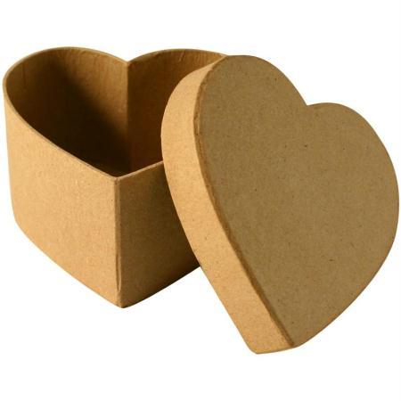 bo te en carton coeur 10 5 cm boite en carton d corer creavea. Black Bedroom Furniture Sets. Home Design Ideas