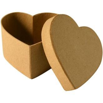 Boîte en carton coeur 10,5 cm