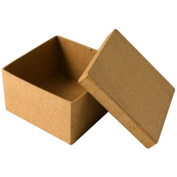 Boîte en carton carrée 8,5 cm - Photo n°1