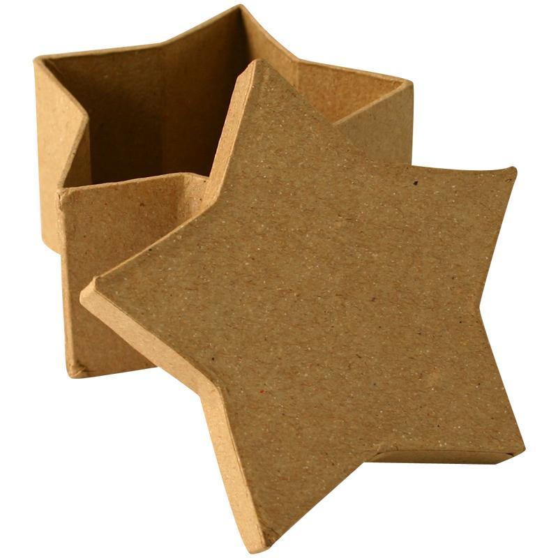 bo te en carton toile 8 cm boite en carton d corer creavea. Black Bedroom Furniture Sets. Home Design Ideas