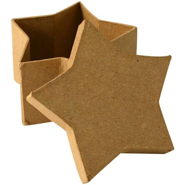 Boîte en carton étoile 8 cm - Photo n°1