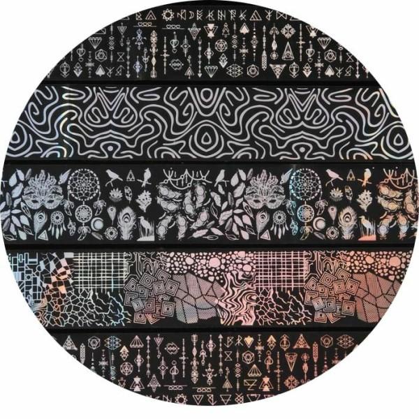 Ensemble de feuille de transfert pour la conception D'Art D'ongle, autocollants, 3d, or, approvision - Photo n°1