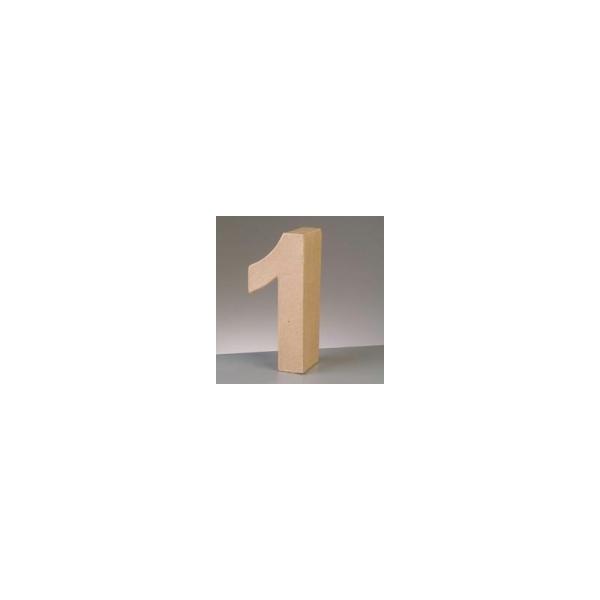 Chiffre en papier mâché, 10 cm, chiffre 3D en carton de 0 à 9 au choix - Photo n°1