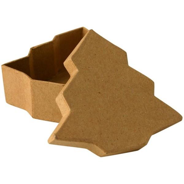Boîte en carton sapin 10 cm - Photo n°1