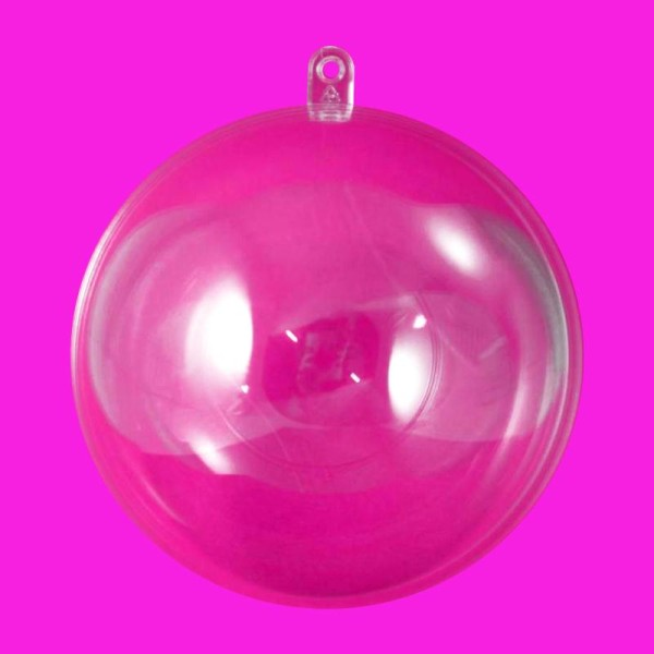 Boule plastique transparente pour contact alimentaire 5 cm - Photo n°1
