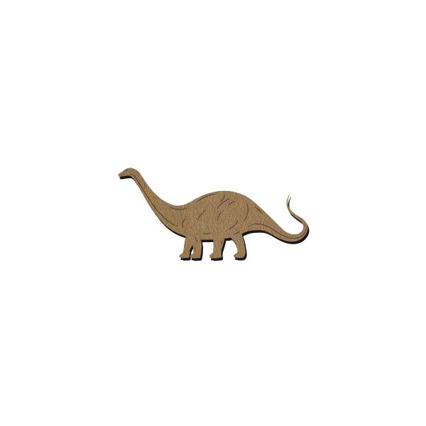 Dinosaure en bois - Diplodocus - 9 x 5 cm - Photo n°1