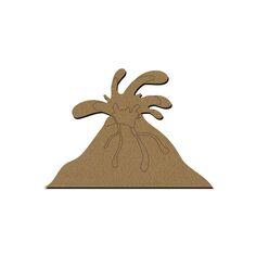 Volcan en bois - 15 x 10,5 cm