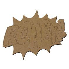 Forme en bois - ROAR - 30 x 22 cm