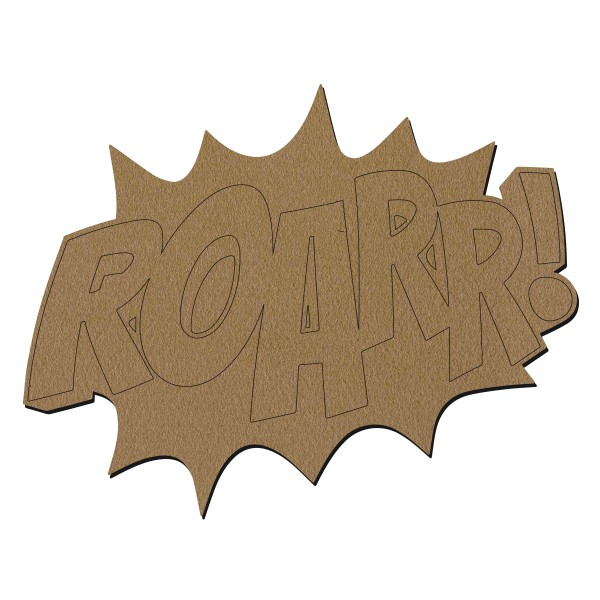 Forme en bois - ROAR - 30 x 22 cm - Photo n°1