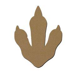 Empreinte de dinosaure en bois - 30 x 23 cm