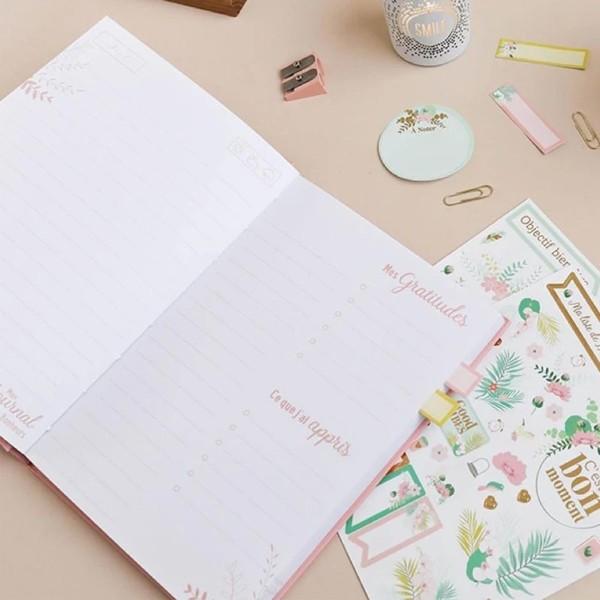 Mon journal des petits bonheurs - Corail - 14,5 x 20,5 cm - 192 pages - Photo n°2