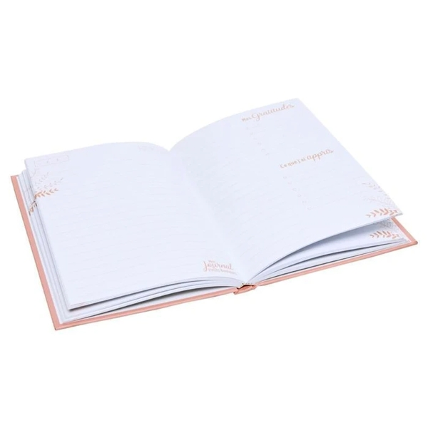 Mon journal des petits bonheurs - Corail - 14,5 x 20,5 cm - 192 pages - Photo n°3