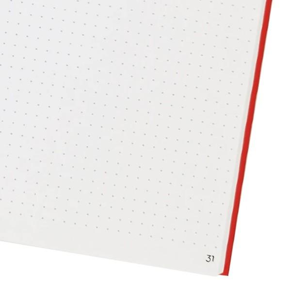 Carnet de notes - Rouge - 15 x 21 cm - 192 pages - Photo n°2