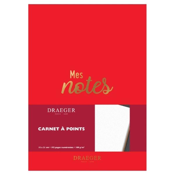 Carnet de notes - Rouge - 15 x 21 cm - 192 pages - Photo n°1