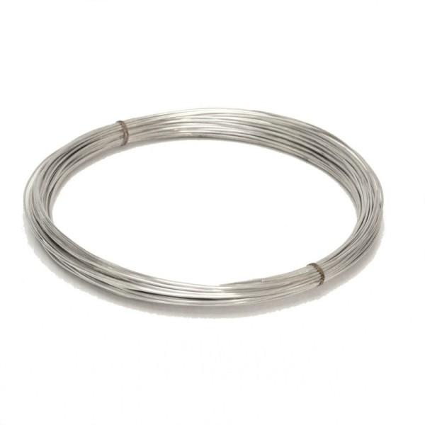 Fil en cuivre argenté diamètre 1 mm, longueur 4 m - Photo n°1