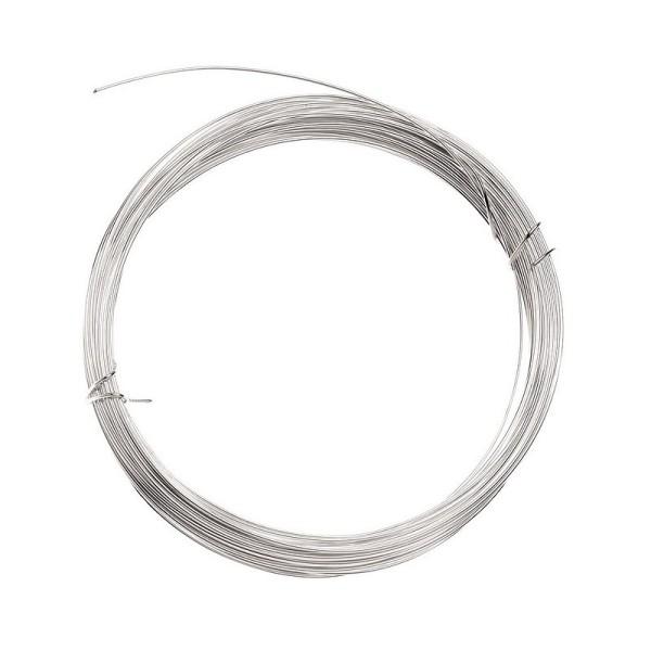 Fil en cuivre argenté diamètre 1.2 mm, longueur 3 mètres - Photo n°2