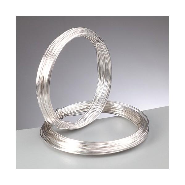 Fil en cuivre argenté diamètre 1.2 mm, longueur 3 mètres - Photo n°3