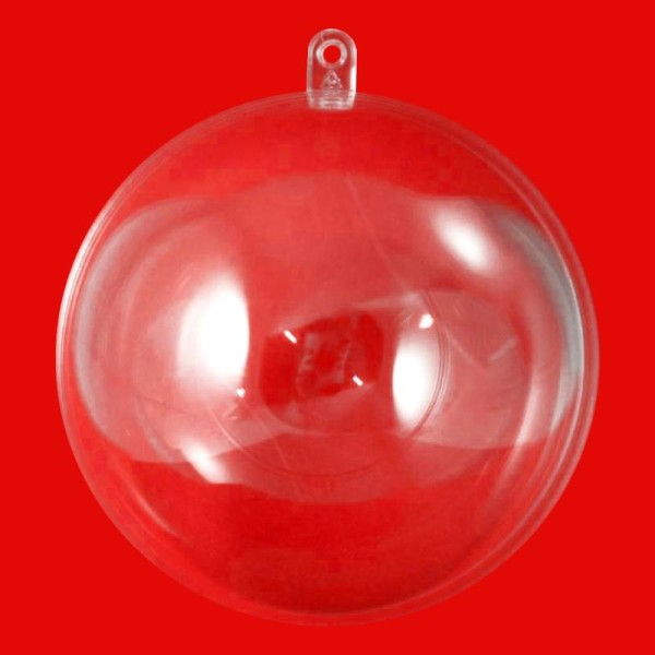 Boule plastique transparente pour contact alimentaire 6 cm - Photo n°1
