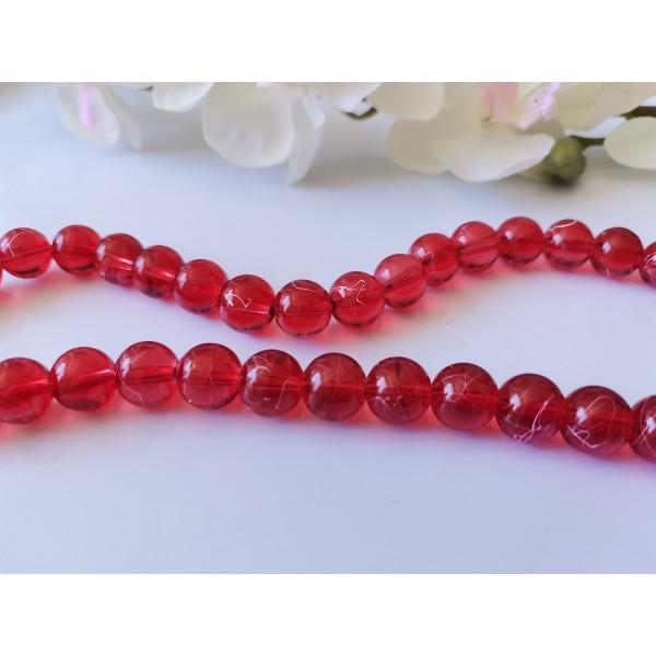 Perles en verre tréfilé 10 mm rouge x 10 - Photo n°1