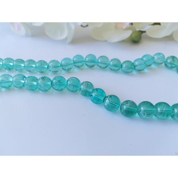 Perles en verre tréfilé 10 mm verte x 10 - Photo n°1