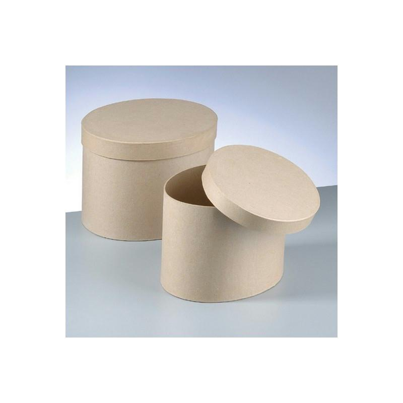 set de 2 grandes boites forme ovale avec couvercle en carton 34cm et 30cm boite en papier. Black Bedroom Furniture Sets. Home Design Ideas