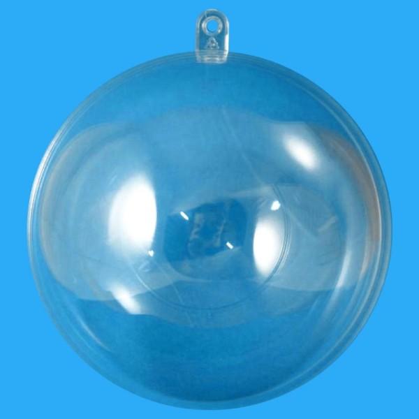 Boule plastique transparente pour contact alimentaire 7 cm - Photo n°1