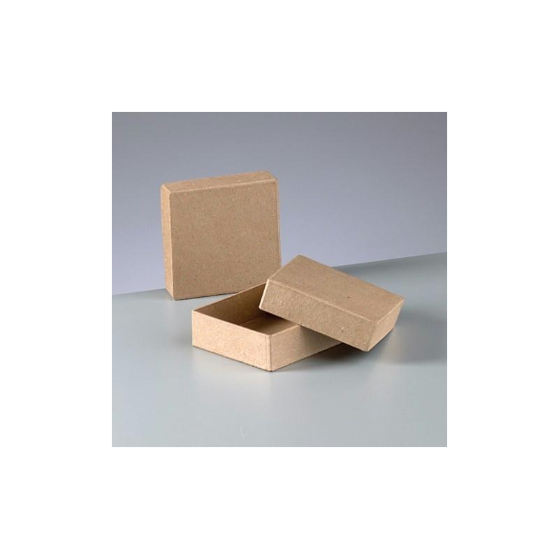 boite carr e en carton avec couvercle 9 cm x 9 cm x 3 cm boite en carton d corer creavea. Black Bedroom Furniture Sets. Home Design Ideas