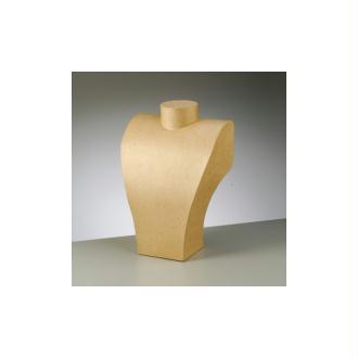 Buste femme en carton, 20 x 29 cm, pour présentoir Collier, à customiser