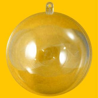 Boule plastique transparente pour contact alimentaire 8 cm