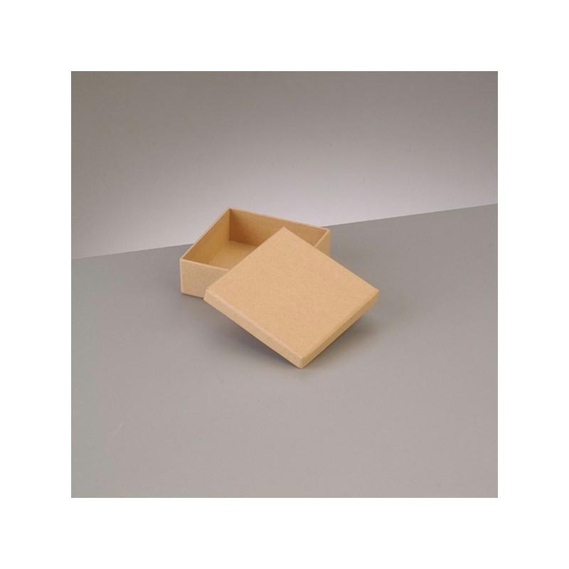 petite boite plate carr e avec couvercle en carton 8 5 x 8 5 x haut 3 1cm boite en papier. Black Bedroom Furniture Sets. Home Design Ideas