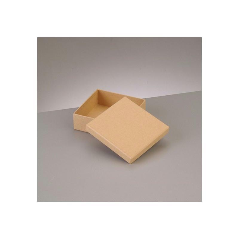 boite plate carr e de rangement avec couvercle en carton 10 5 x 10 5 x haut 3 6cm boite en. Black Bedroom Furniture Sets. Home Design Ideas