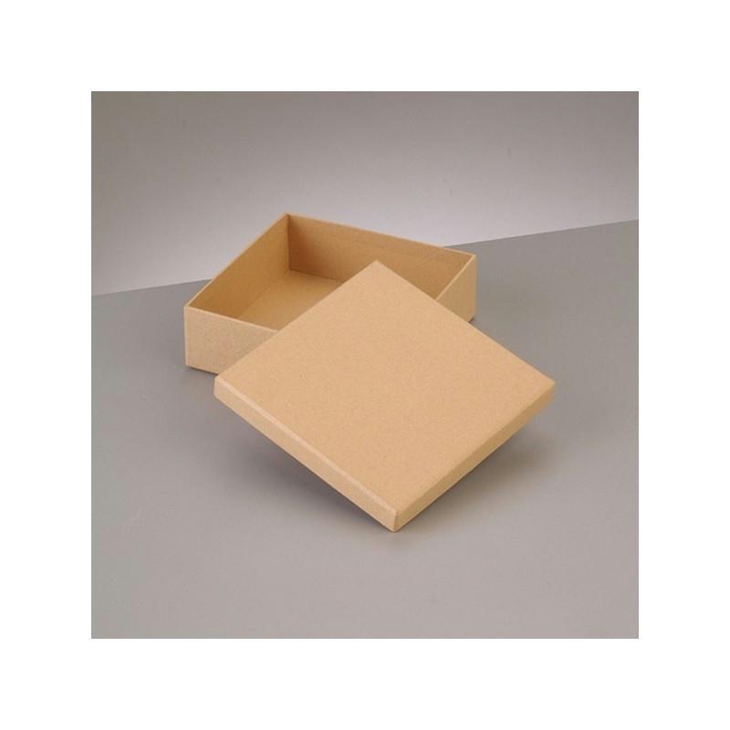 boite plate carr e de rangement avec couvercle en carton 12 5 x 12 5 x haut 4cm boite en. Black Bedroom Furniture Sets. Home Design Ideas