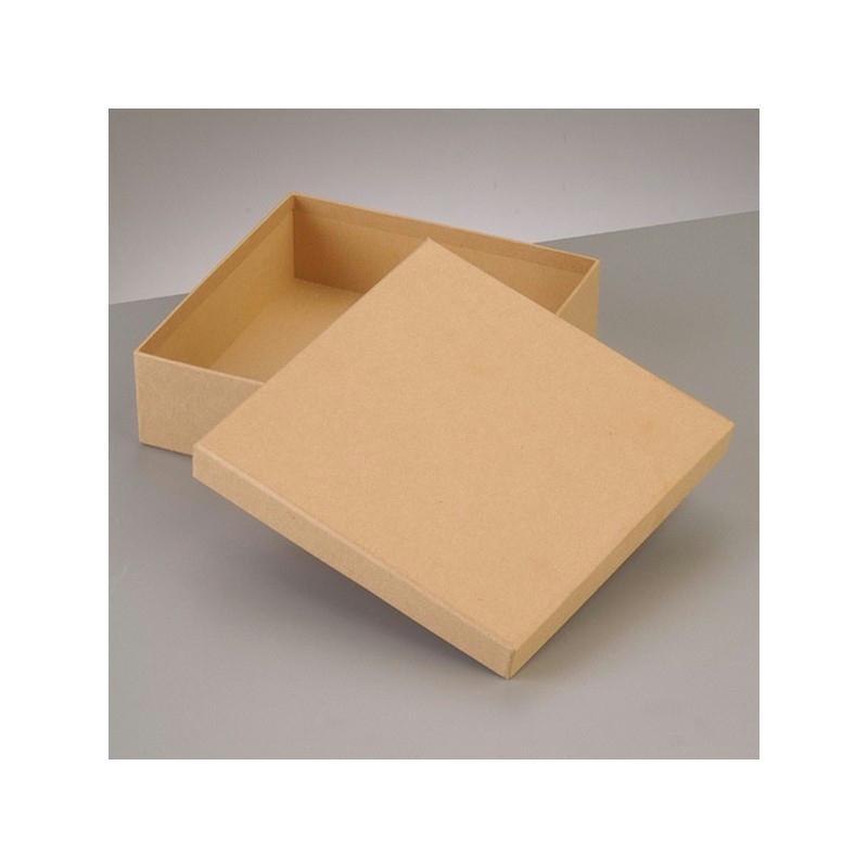 boite plate carr e de rangement avec couvercle en carton 16 5 x 16 5 x haut 5cm boite en. Black Bedroom Furniture Sets. Home Design Ideas