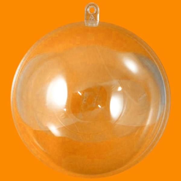 Boule plastique transparente pour contact alimentaire 10 cm - Photo n°1