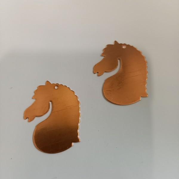 Deux têtes de cheval pour émaillage - Photo n°1