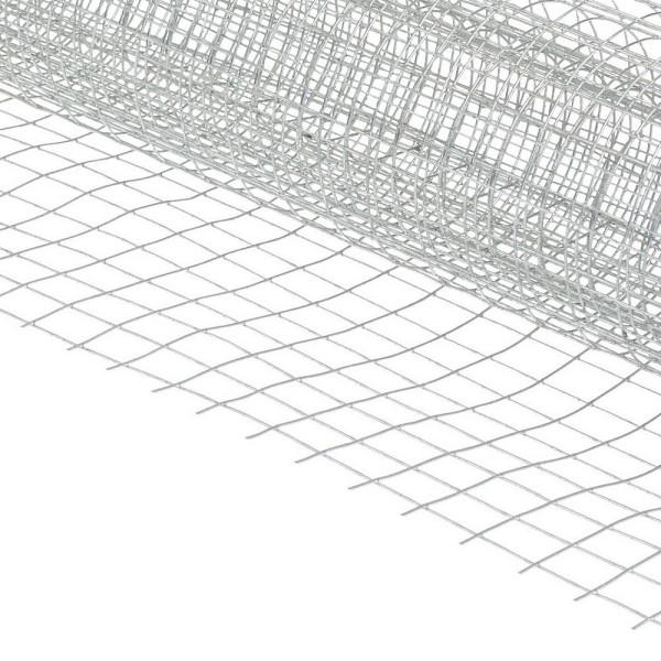 Grillage zingué 50 cm x 100 cm, Mailles carrées 1,3 x 1,3 cm, Treillage galvanisé pour moulage - Photo n°2