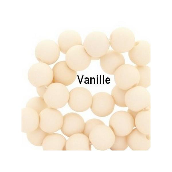 Lot de 200  perles acryliqes 6mm de diametre vanille - Photo n°1