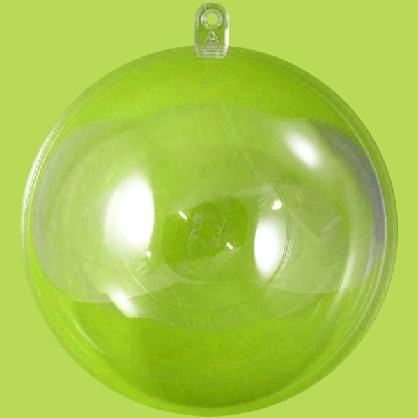 Boule plastique transparente pour contact alimentaire 12 cm - Photo n°1