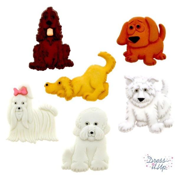 Boutons Dress It Up : Puppy Parade / Défilé de Chiots - Boutons 3D - Photo n°1