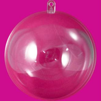 Boule plastique transparente pour contact alimentaire 14 cm