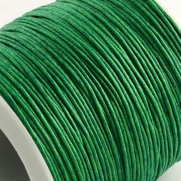 Fil coton ciré 1 mm vert x 5 m - Photo n°2