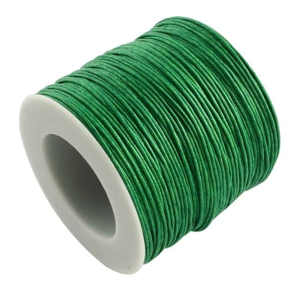 Fil coton ciré 1 mm vert x 5 m - Photo n°1