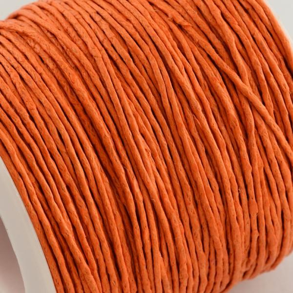 Fil coton ciré 1 mm orange  x 2 m - Photo n°2
