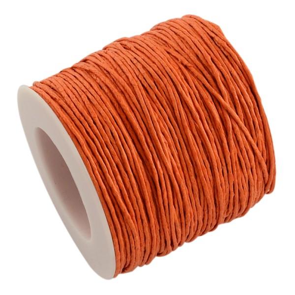 Fil coton ciré 1 mm orange  x 2 m - Photo n°1