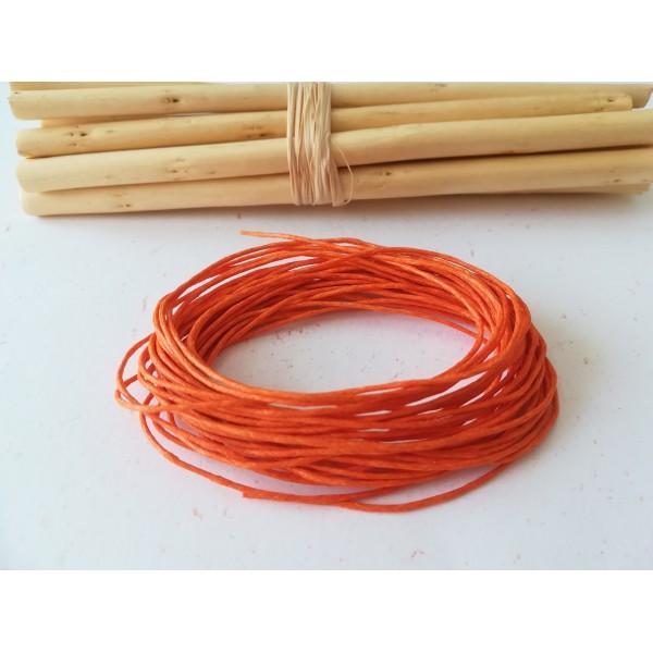 Fil coton ciré orange 1 mm x 5 m - Photo n°1