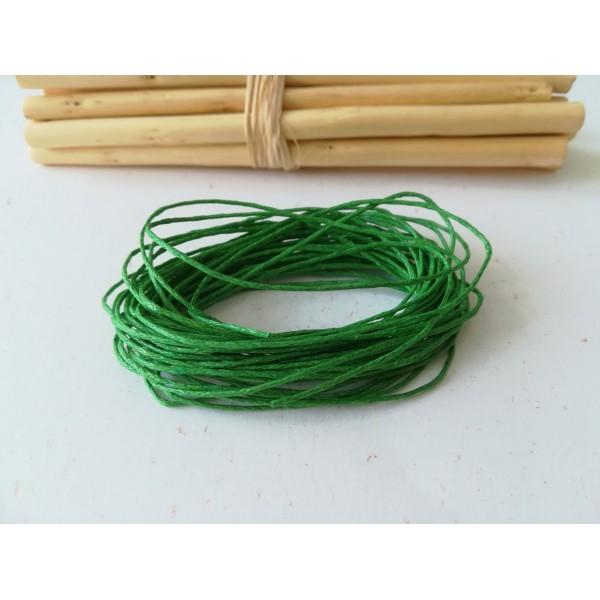 Fil coton ciré citron vert 1 mm x 2 m - Photo n°1