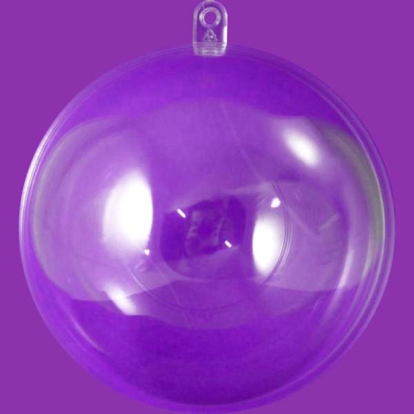 Boule plastique transparente pour contact alimentaire 16 cm - Photo n°1